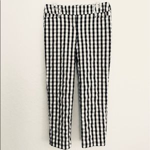 LOFT gingham cropped pants